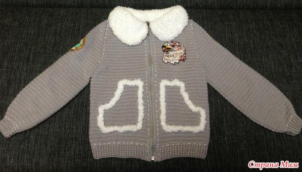 Курточка на весну для сына.