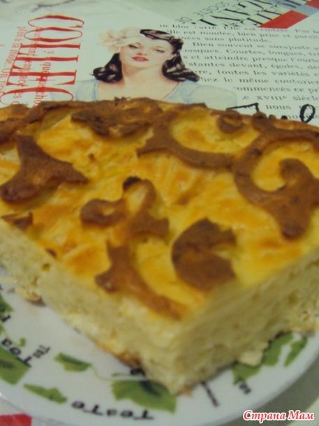 Пирог капустный, тесто заливное