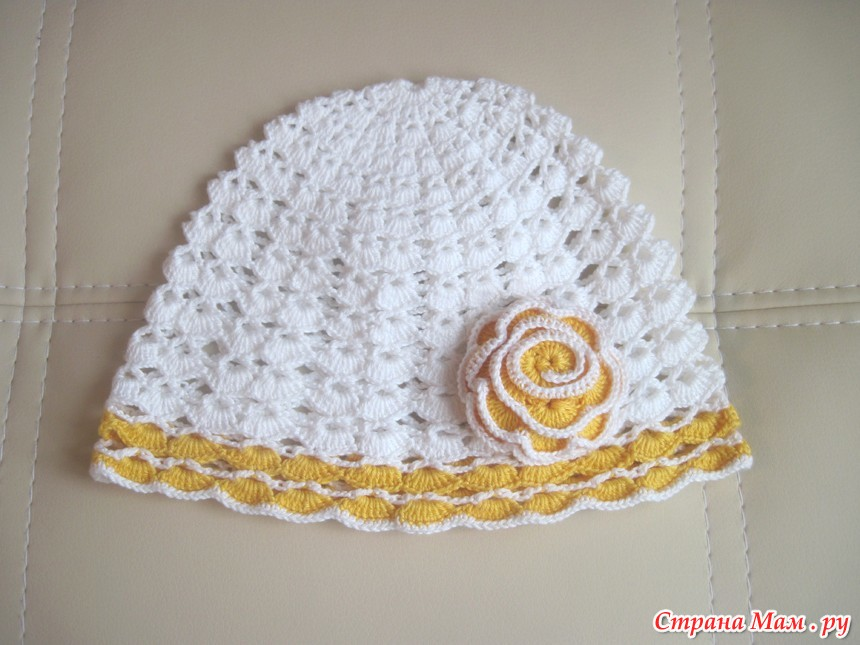 летние шапочки крючком вязание страна мам