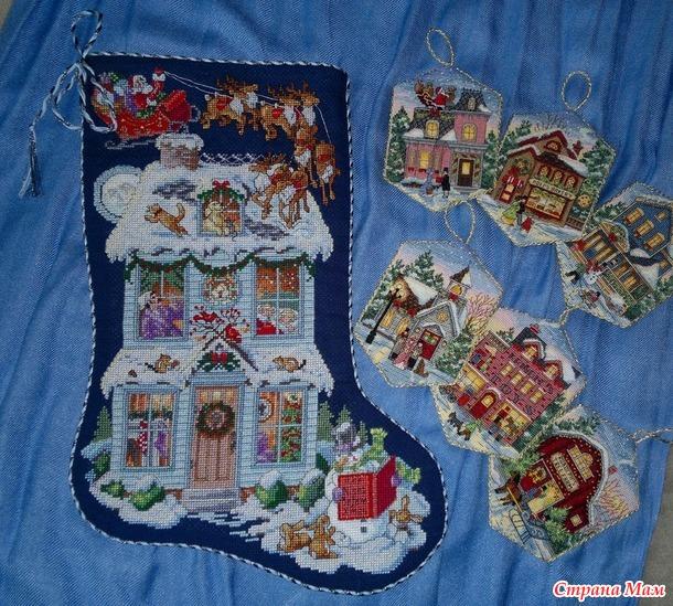 Рождественские сапожки для подарков.