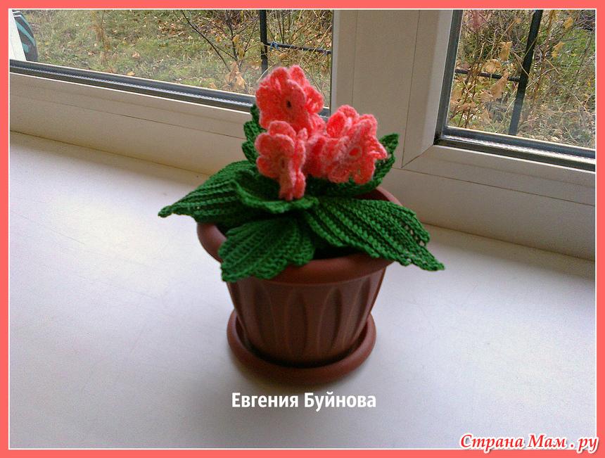 идея подарка к 8 марта вязанные комнатные цветы вязание страна мам