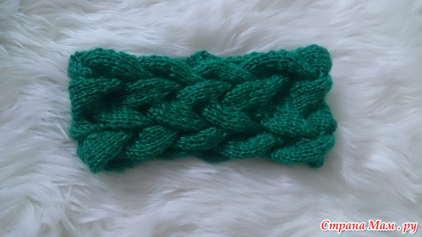 повязки на голову спицы вязание страна мам