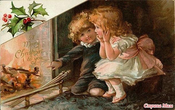 Новогодняя елочка с птичками и подарками  от Парижских вышивальщиц! Приглашение на Междусобойчик!