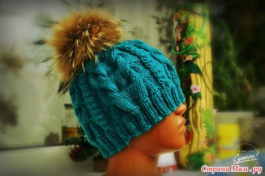 шапка объемными косами спицами вгу вязаные головные уборы
