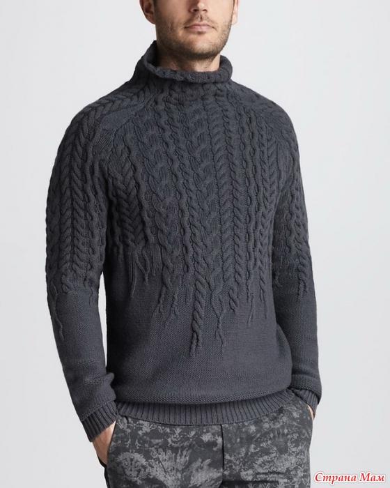21659e68c503 Приглашаю на онлайн по вязанию свитер с аранами. - Страна Мам