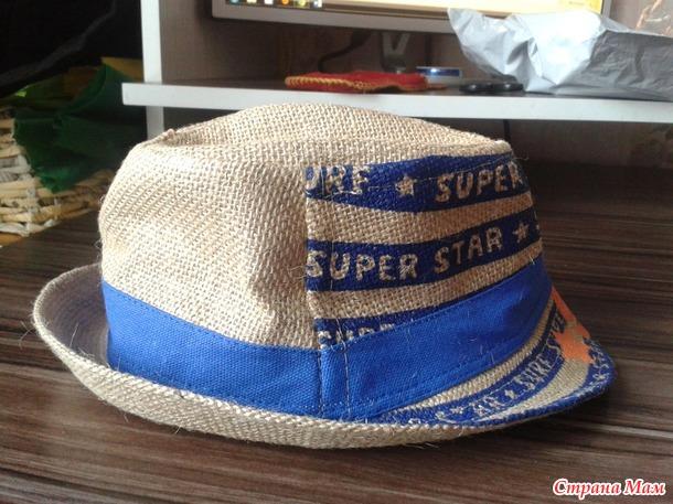 Летня шляпа для мальчика из мешковины+
