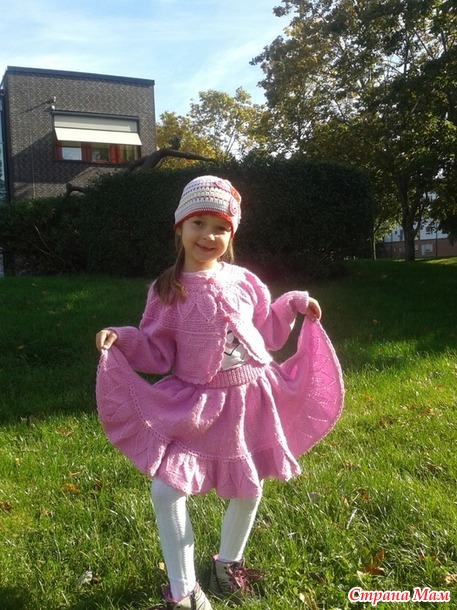 Розовое чудо вязание