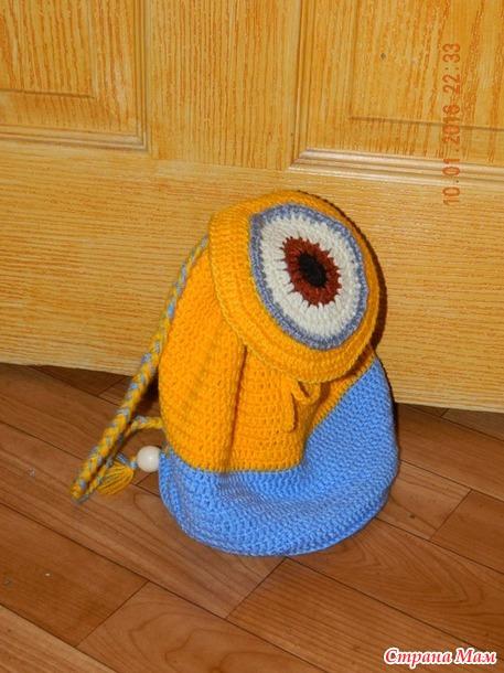 новые рюкзаки для детей все в ажуре вязание крючком