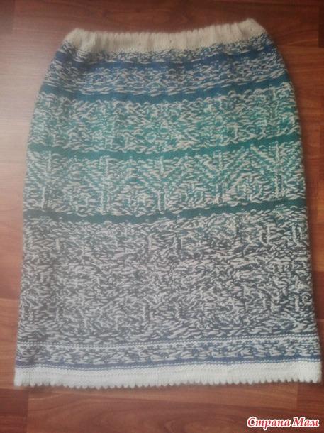 Мои жаккардовые юбки для себя и для дочери
