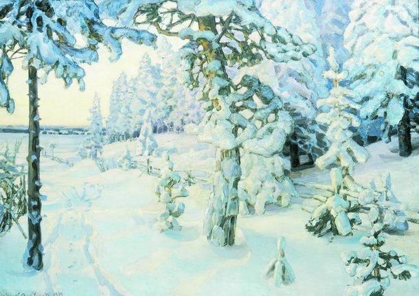 Русская зима глазами художников.