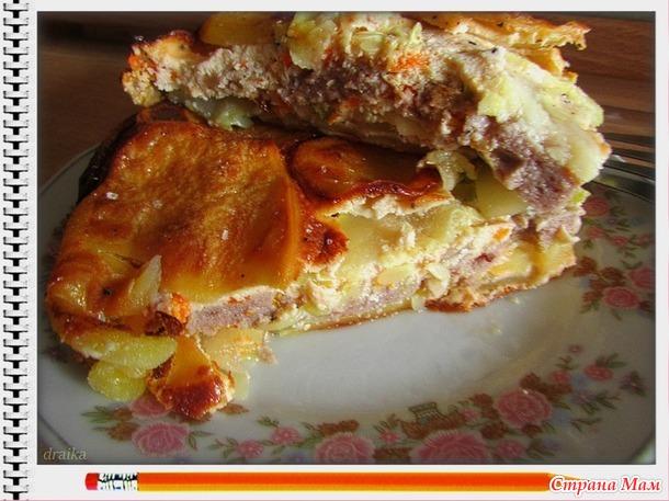 Запеканка с кабачками и картофелем