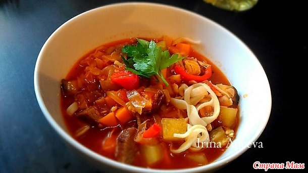 Лагман от моего мужа по мотивам рецепта  Марата Абдуллаева (Дунduk-кулинар).