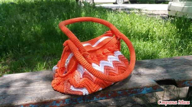 Сумка Апельсиновый ЗИГ-ЗАГ