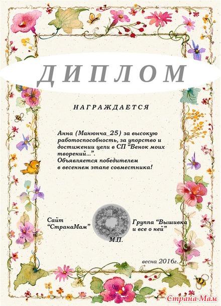 """Отчет №3. СП """"Венок моих творений..."""" - лето 2016г."""