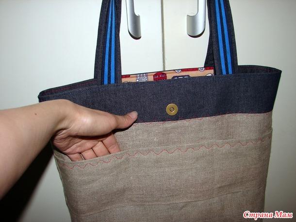 Джинсовая сумка Из Англии с любовью