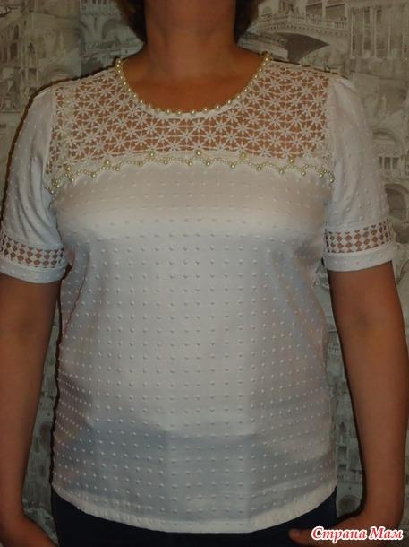 Нарядная блузка +
