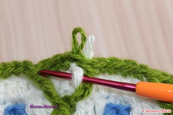 Совместное вязание цветочного коврика