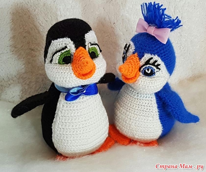 пингвины кнопочка и серёжка вязание страна мам