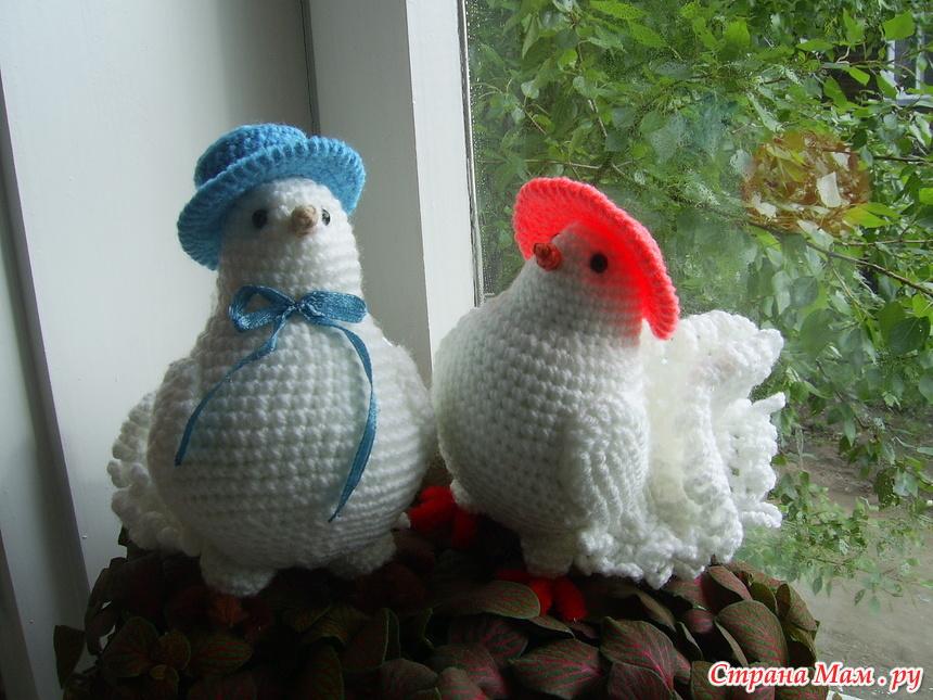 голубь и голубка вязание страна мам