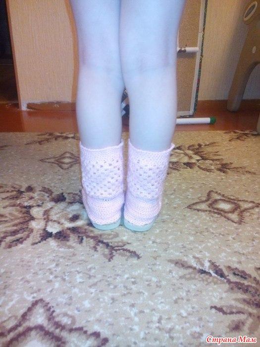 вязаные сапожки для моей принцессы вязание страна мам