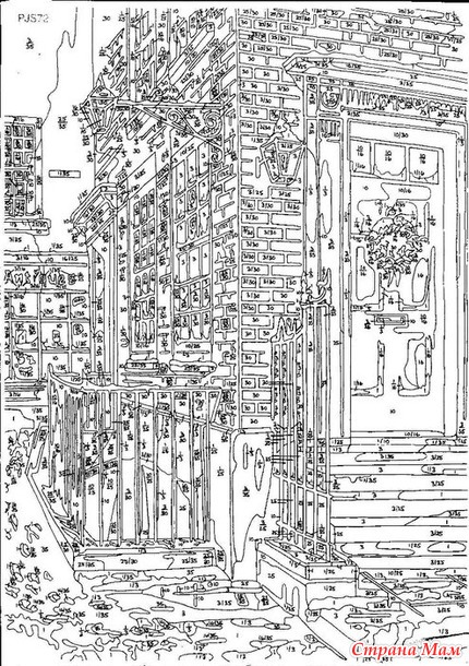 Схема и палитра к картине Аберкорн вэй - Алмазная мозаика ...