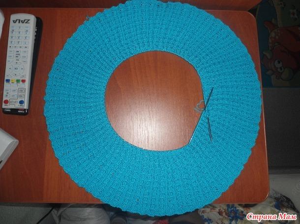 Голубой ажурный сарафан