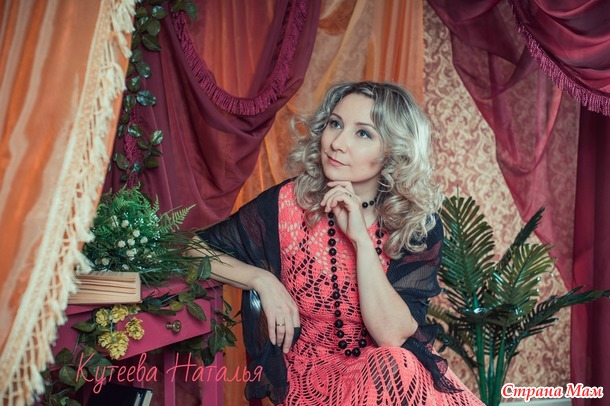 """Коралловое платье в пол """"Листья"""" (много фото+добавила фото с профессиональной фотосессии)"""