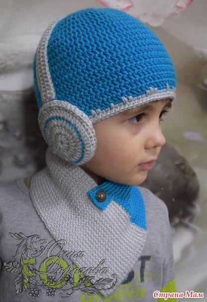 шапка с наушниками вязание страна мам