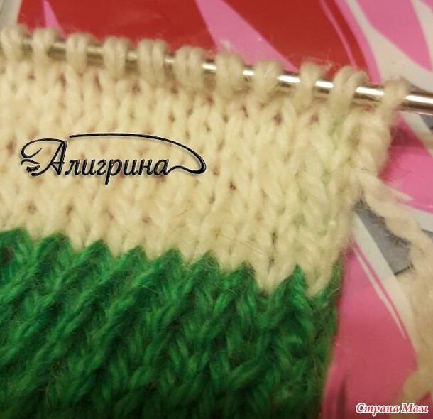 Вязание спицами разноцветные полосы
