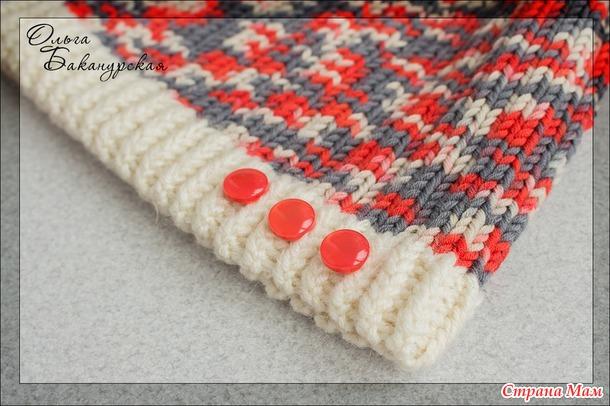 Шапка и шарф-трансформер из меланжевой пряжи