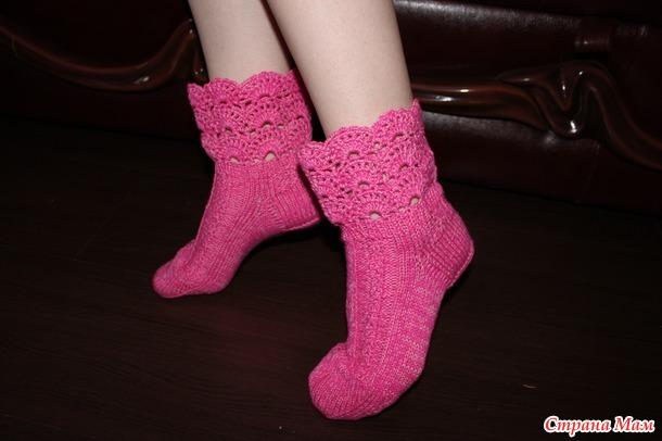 Смогла, получились-ажурные носочки!!!