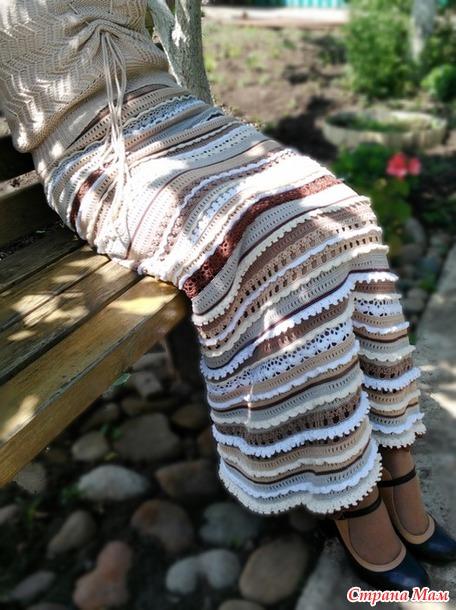 Мой вариант юбки Пагода от Ванессы Монторо (добавила фото)