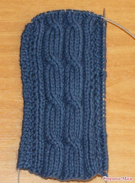 съемный капюшон спицами вязание страна мам