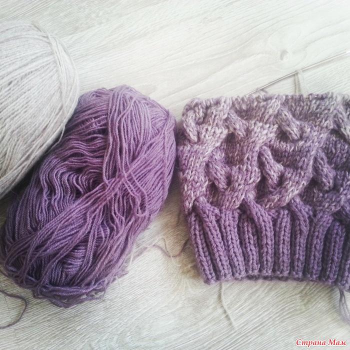 шапка и снуд градиентом вязание страна мам