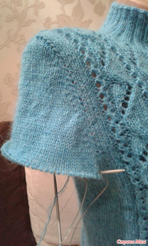 Вязание с вшивным рукавом 9