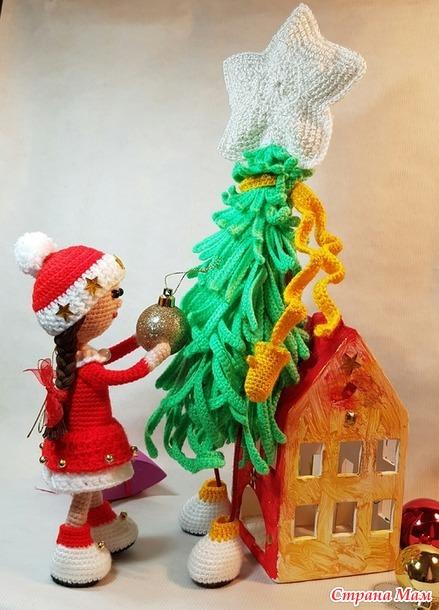 Он-лайн: Вяжем вместе Снегурочку, внучку Дедушки Мороза.