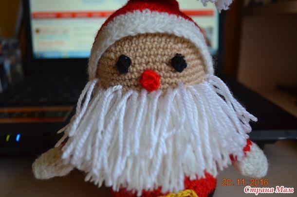 Онлайн. Вяжем Деда Мороза.