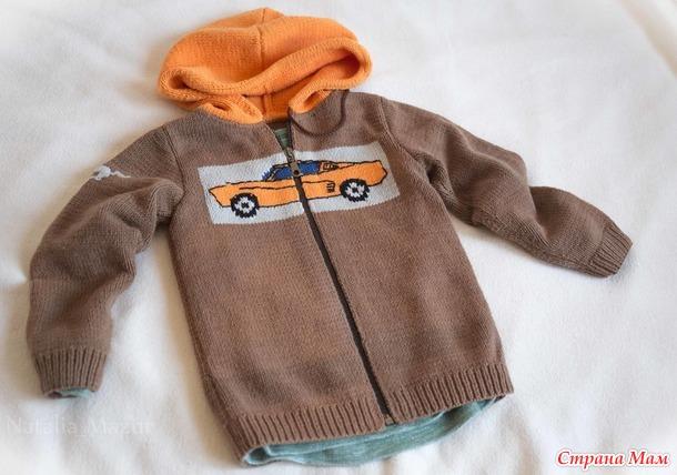 Куртка с капюшоном на мальчика_ демисезон