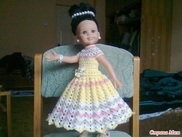 """""""Бисквит с ванилью""""платье для принцесс"""
