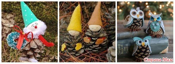 Новогодние поделки из шишек. Идеи для вдохновения