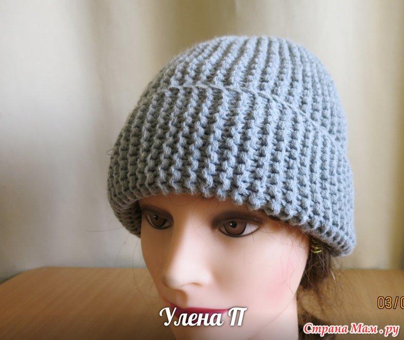 шапка бини спицами вязание страна мам