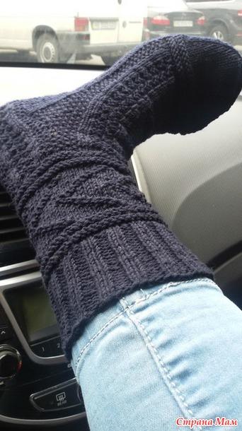 мужские носки спицами 45 размер