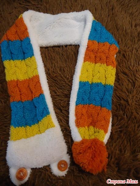 Шапка+шарф с мягкой подкладкой +