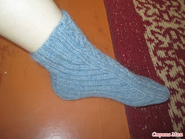 Носки для старшего сына (ссылка на мк прилагается)