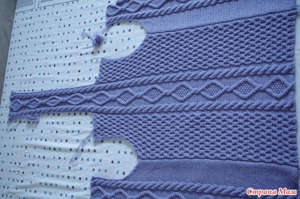 кардиган для девочки с капюшоном вязание