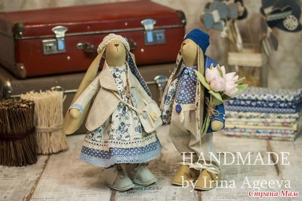 МК по пошиву Тильда-зайцев. Часть 4 - аксессуары