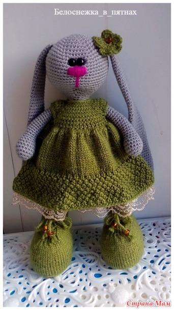 платье для зайки в стиле тильда амигуруми страна мам