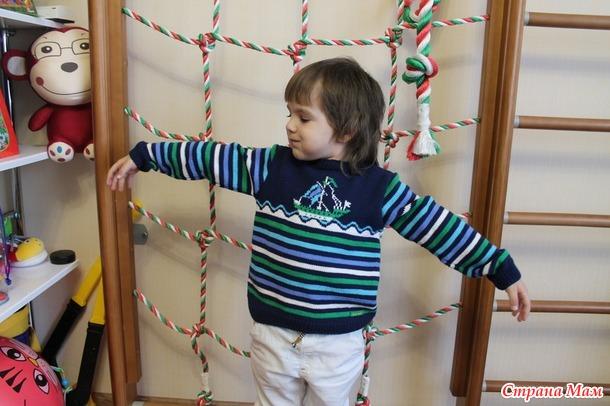 Жаккардовый пуловер с парусником