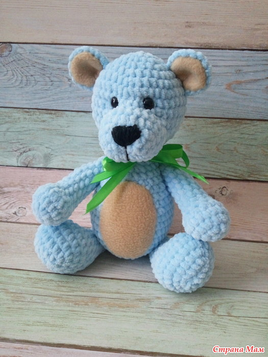игрушки из плюшевой пряжи вязание страна мам