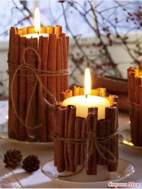 Свечи на праздничном столе. Идеи декора.
